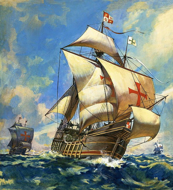 Sailing Ship Drawing - Unidentified Sailing Ships by Andrew Howat