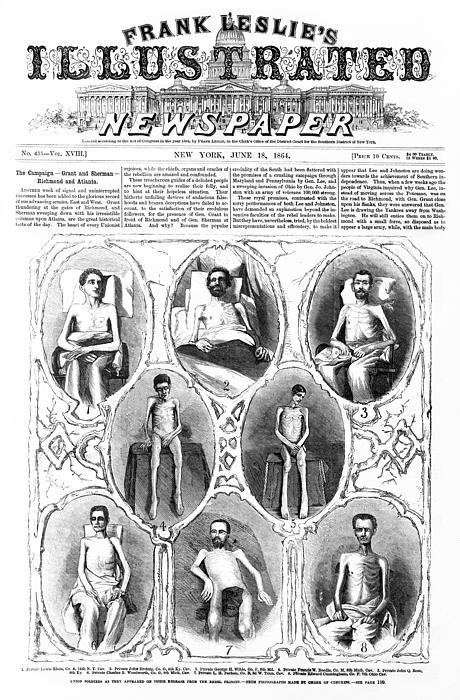 Civil War Photograph - Union Soldiers Released  June 1864 by Daniel Hagerman