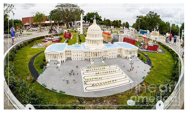 Building Photograph - United States Capital Building At Legoland by Edward Fielding