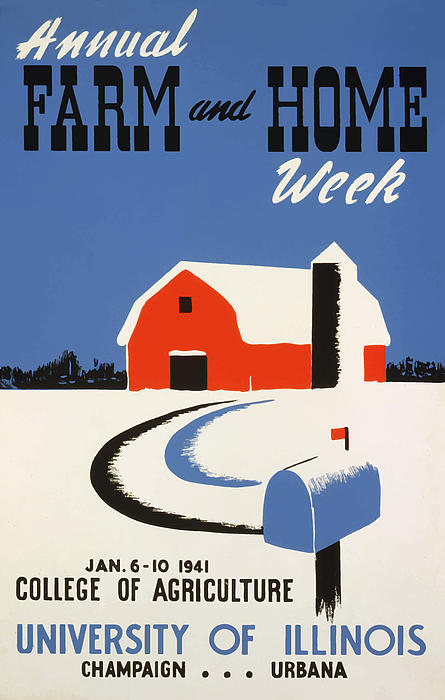 Vintage Painting - University Of Illnois Farm And Home Week by American Classic Art