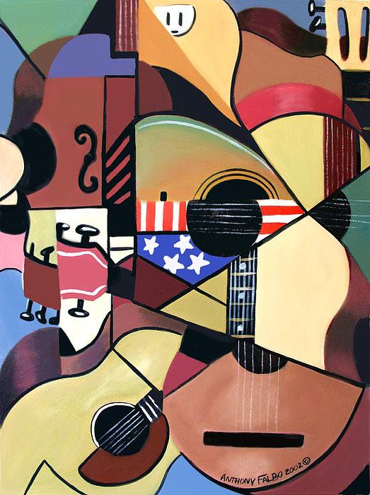 Acoustic Painting - Unpluged by Anthony Falbo