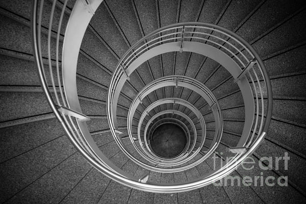 Architecture Photograph - urban spiral - gray II by Hannes Cmarits