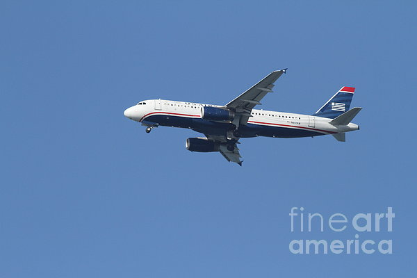 Airplane Photograph - Us Airways Jet 7d21945 by Wingsdomain Art and Photography