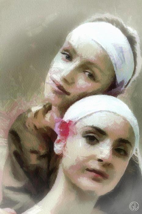 Woman Digital Art - Us Two by Gun Legler