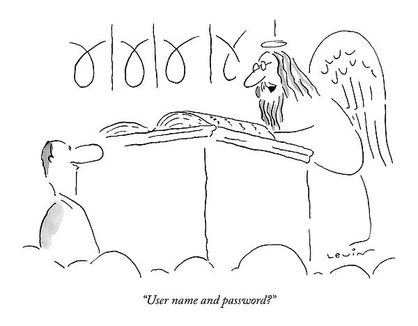 User Name And Password? Drawing by Arnie Levin
