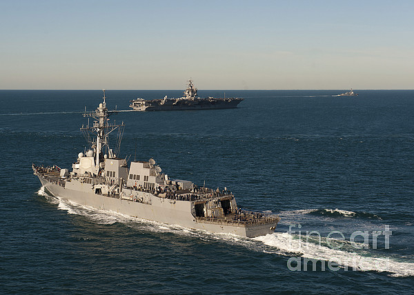 Military Photograph - Uss James E. Williams Is Underway by Stocktrek Images
