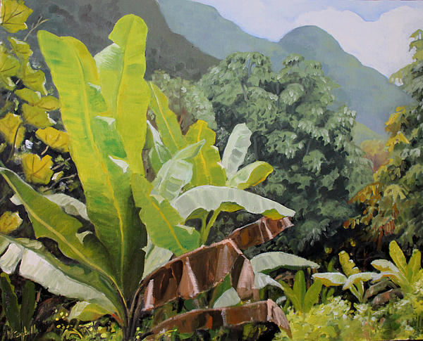 Landscape Painting - Utuado Puerto Rico by Nancy Campbell