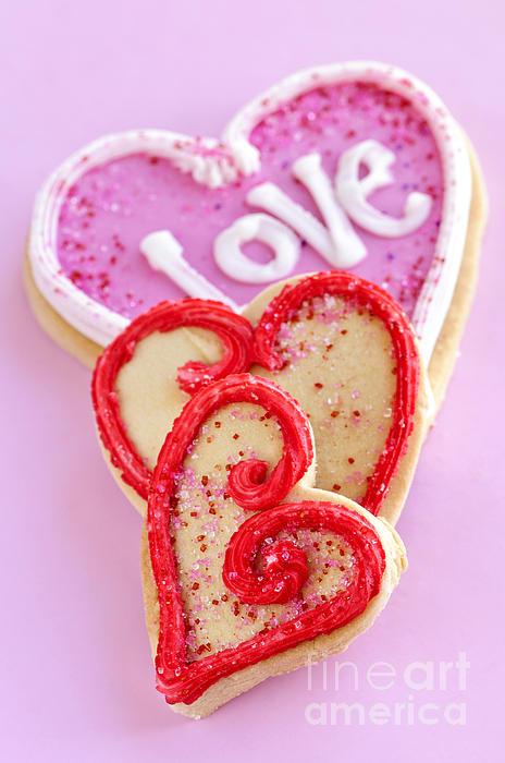 Cookies Photograph - Valentine Hearts by Elena Elisseeva