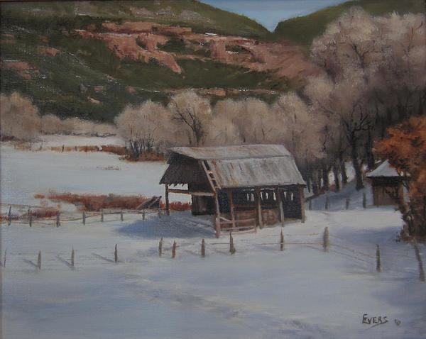 Barns Painting - Valley At Rest by Mar Evers