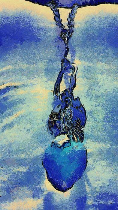 Van Gogh Digital Art - Van Gogh Starry Night Style Heart by Lorri Crossno