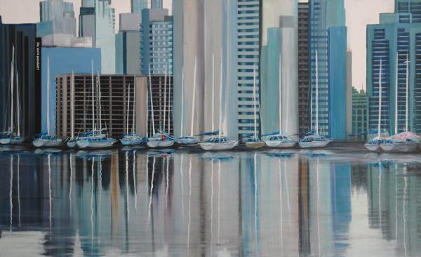 Prints Painting - Vancouver by Angel Ortiz