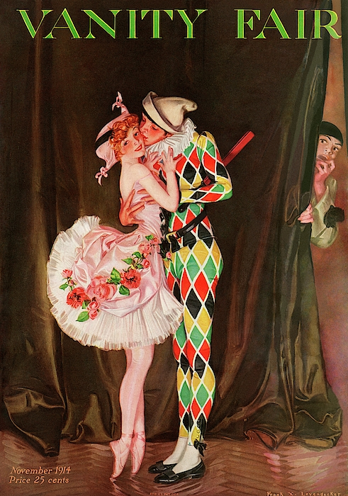 Vanity Fair Cover Featuring A Harlequin Photograph by Frank X. Leyendecker