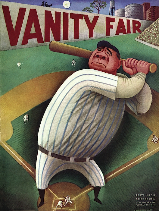 Vanity Fair Cover Featuring Babe Ruth Photograph by Miguel Covarrubias