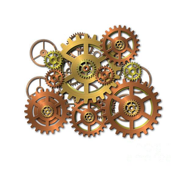 Cogwheel Digital Art - Various Gears by Michal Boubin