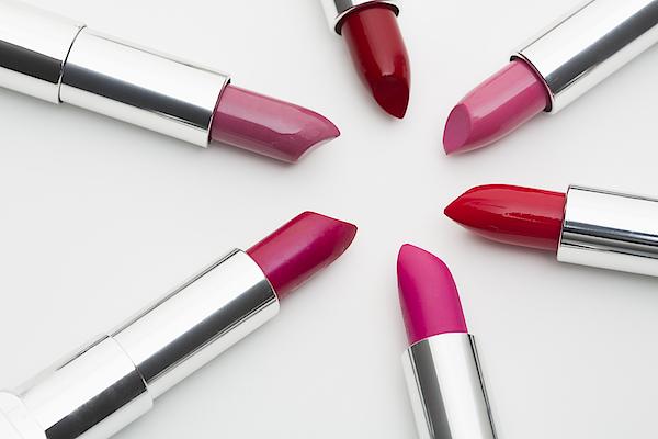 Various Lipsticks On White Background Photograph by Vstock