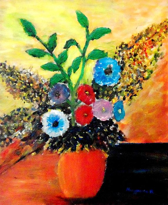 Flowers Painting - Vase Of Flowers by Mauro Beniamino Muggianu