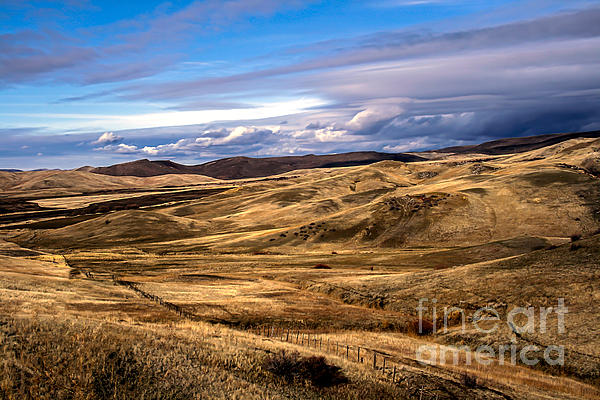 Clouds Photograph - Vast View Of The Rolling Hills by Robert Bales