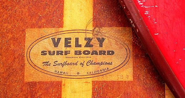 Velzy Surf Board Photograph - Velzy Surf Board by Ron Regalado