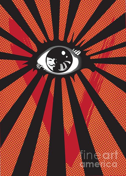 Eyes Digital Art - Vendetta2 Eyeball by Sassan Filsoof