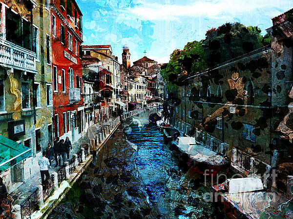 Venice Photograph - Venice Canal by Claire Bull