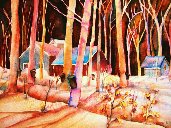 Montreal Painting - Vermont Maple Syrup by Carole Spandau