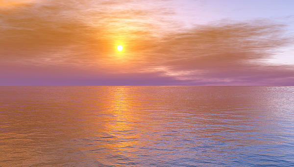 Ocean Digital Art - Verona Beach by Mark Greenberg