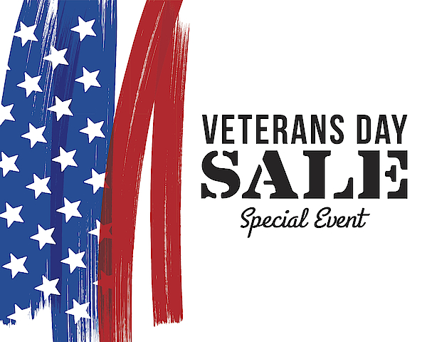 Veterans Day Sale Banner Drawing by Discan
