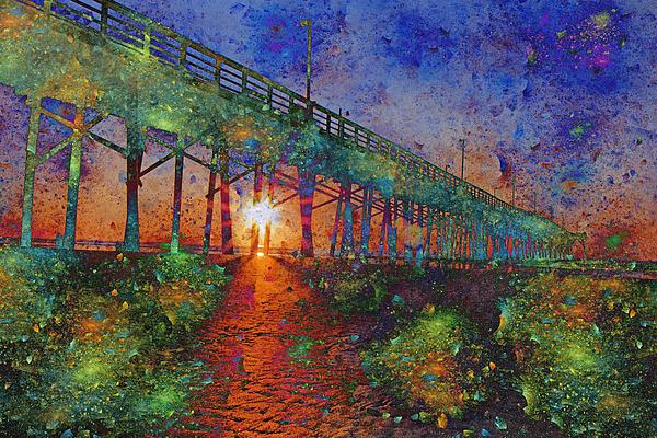 Sunrise Digital Art - Vibrant Sunrise by Betsy Knapp