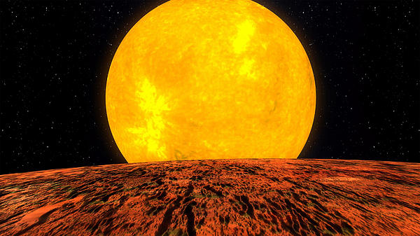 Moon Photograph - View From Planet Kepler 10b by Movie Poster Prints