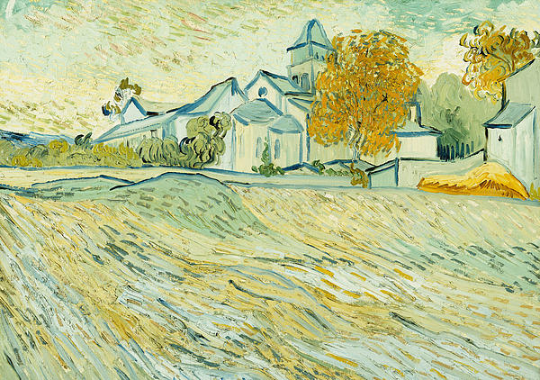 View Of Asylum And Saint-remy Chapel Painting by Vincent van Gogh