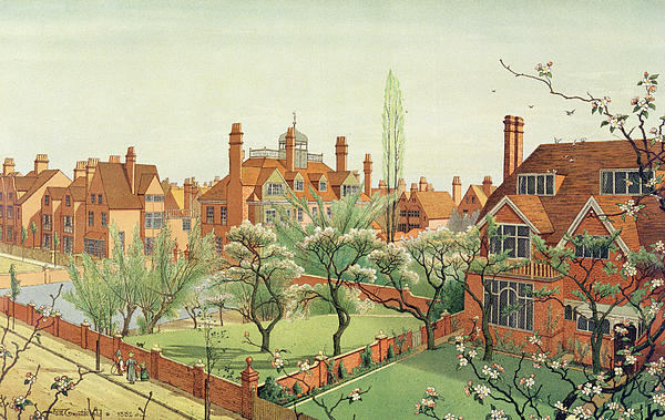 West London Painting - View Of Bedford Park by English School