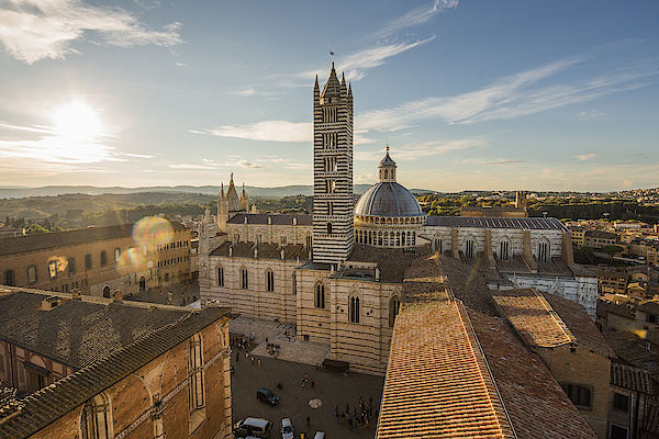 View Of Duomo, Cathedral Of Siena And The Town Photograph by Maremagnum