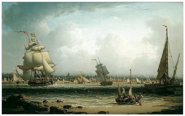 Robert Salmon Painting - View Of Liverpool by Robert Salmon
