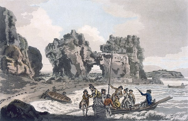 British Drawing - View Of The Castle Rock by J. & Ibbetson, J.C. Hassell