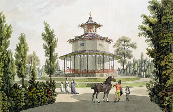 Schloss Drawing - View Of The Chinese Summer House by Laurenz Janscha