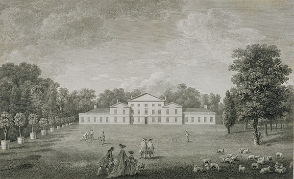 Facade Drawing - View Of The Palace At Kew by John Joshua Kirby