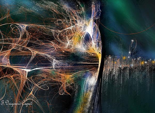 Abstract Digital Art - Vigilant by Francoise Dugourd-Caput