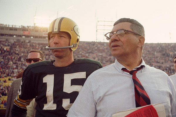 Marvin Newman Photograph - Vince Lombardi With Bart Starr by Retro Images Archive