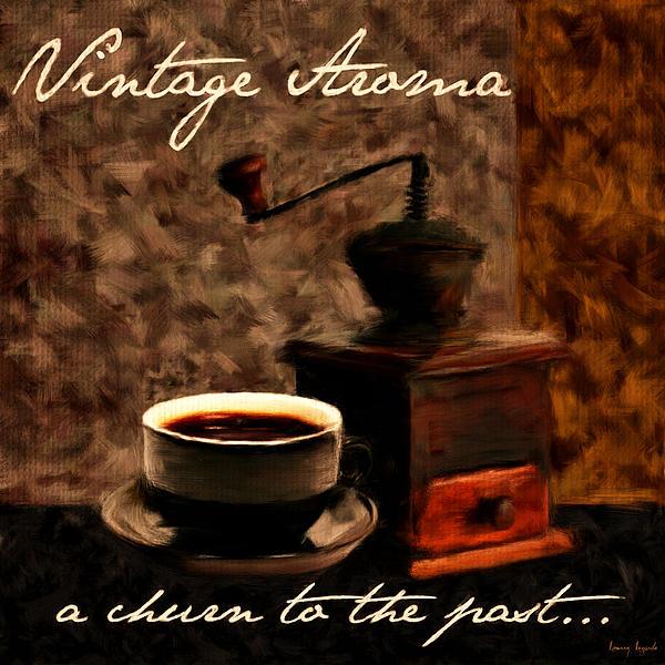 Coffee Digital Art - Vintage Aroma by Lourry Legarde
