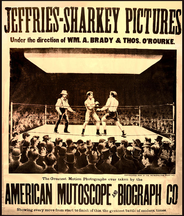Vintage Photograph - Vintage Boxing Movie Poster by Bill Cannon
