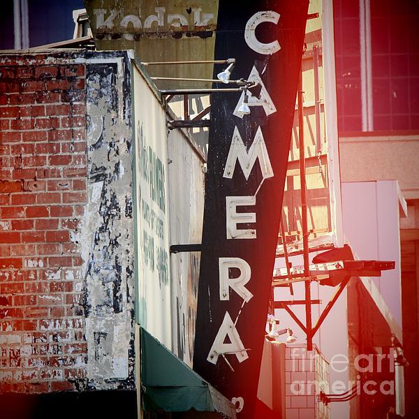 Vintage Camera Sign Photograph - Vintage Camera Sign by Nina Prommer