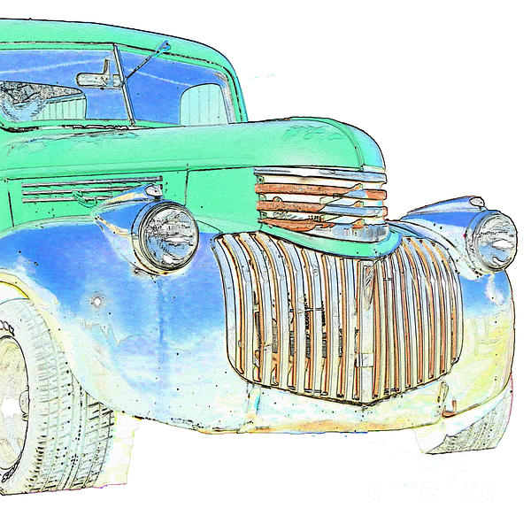 Chevrolet Pickup Photograph - Vintage Chevrolet Pickup 2 by Betty LaRue