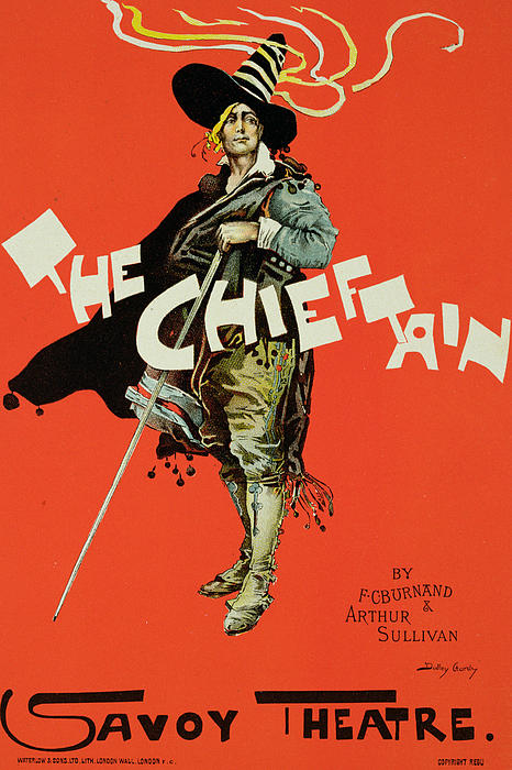 Advert Drawing - Vintage Poster For The Chieftain At The Savoy by Dudley Hardy