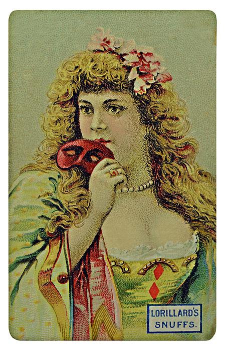 Card Photograph - Vintage Tobacco Or Cigarette Card by Susan Leggett