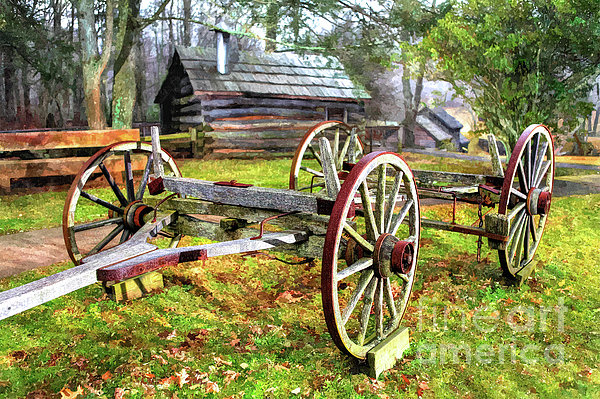 North Carolina Photograph - Vintage Wagon On Blue Ridge Parkway I by Dan Carmichael