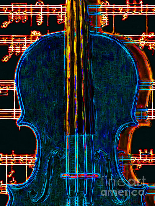 Music Photograph - Violin - 20130128 by Wingsdomain Art and Photography