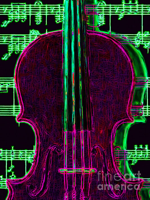 Music Photograph - Violin - 20130128v2 by Wingsdomain Art and Photography