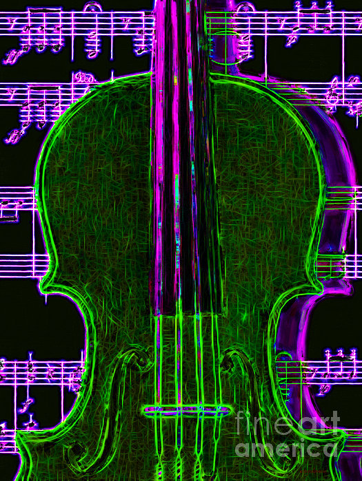 Music Photograph - Violin - 20130128v4 by Wingsdomain Art and Photography
