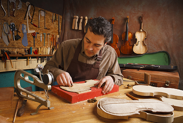 Violin Maker Photograph by Syolacan