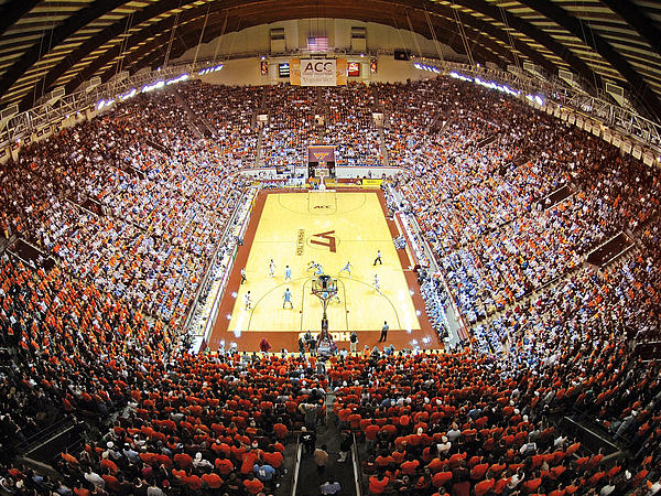Virginia Tech Photograph - Virginia Tech Hokies Cassell Coliseum by Replay Photos